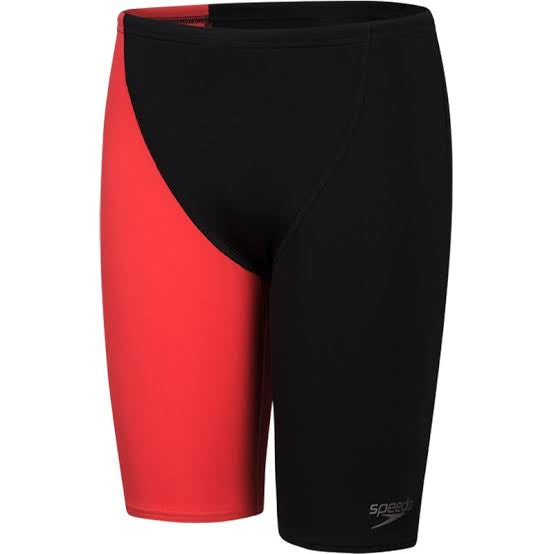 Boys Endurance+ High Waisted Jammer Black/Lava Red