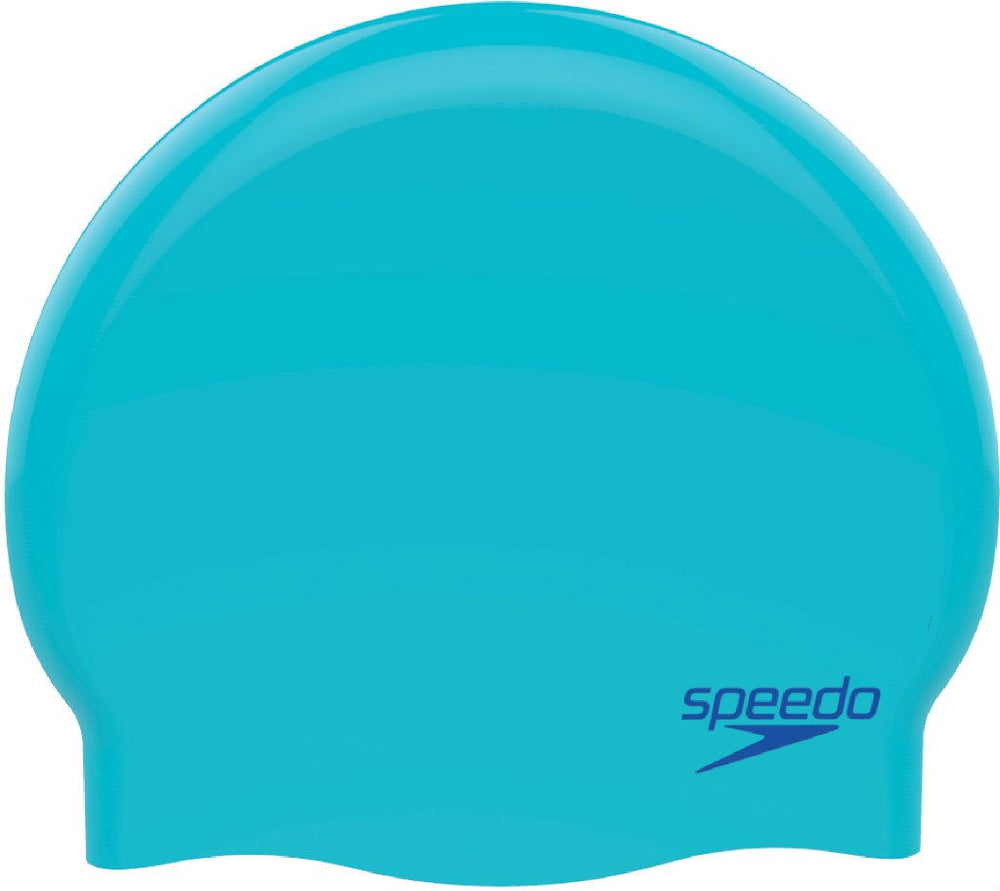 Junior Plain Moulded Silicone Cap Blue/Blue