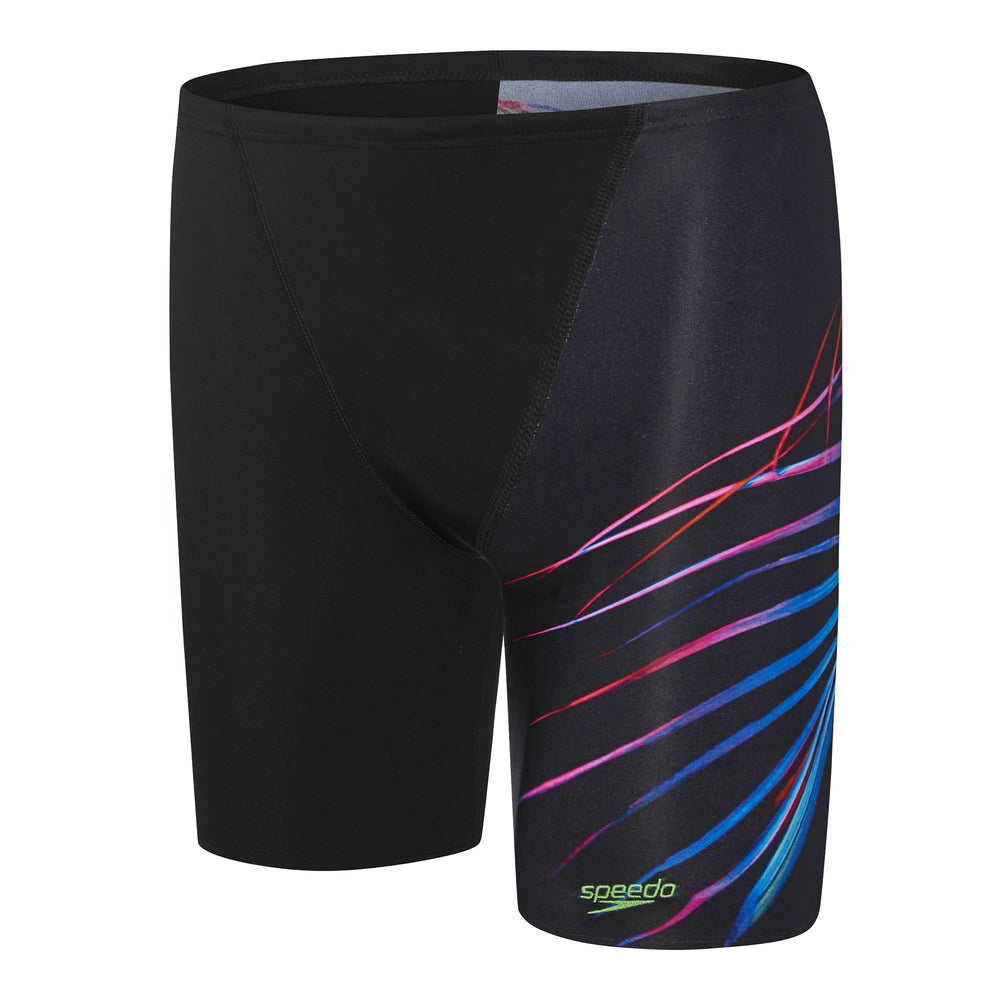 Boys Palm Glow Jammer Black/Palm Leaf Glow