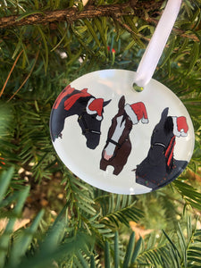 Acrylic Holiday Horse Ornament