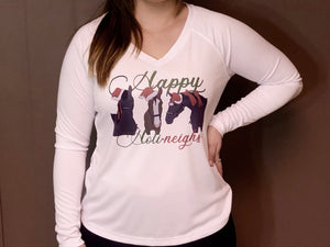 White Long Sleeve Holiday Shirt