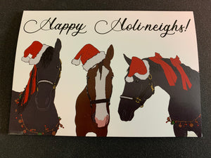 Happy Holi-Neighs Greeting Cards 6-Pack
