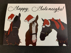 Happy Holi-Neighs Greeting Cards