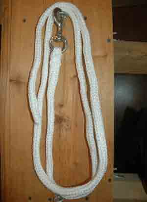 White Cotton Lead Line with Chain