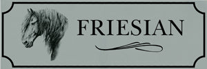 Friesian Bumper Sticker