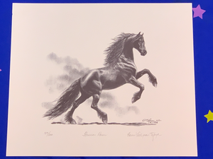 Karen Tafoya Numbered Limited Edition Print Friesian Power