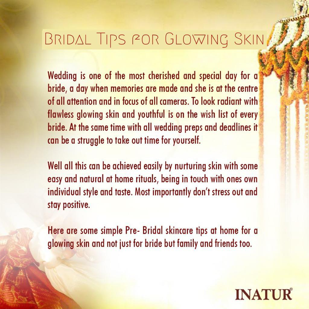 Bridal Tips for Glowing Skin  Inatur