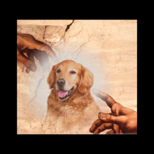 Load image into Gallery viewer, Stylized Encaustic Pet Portrait