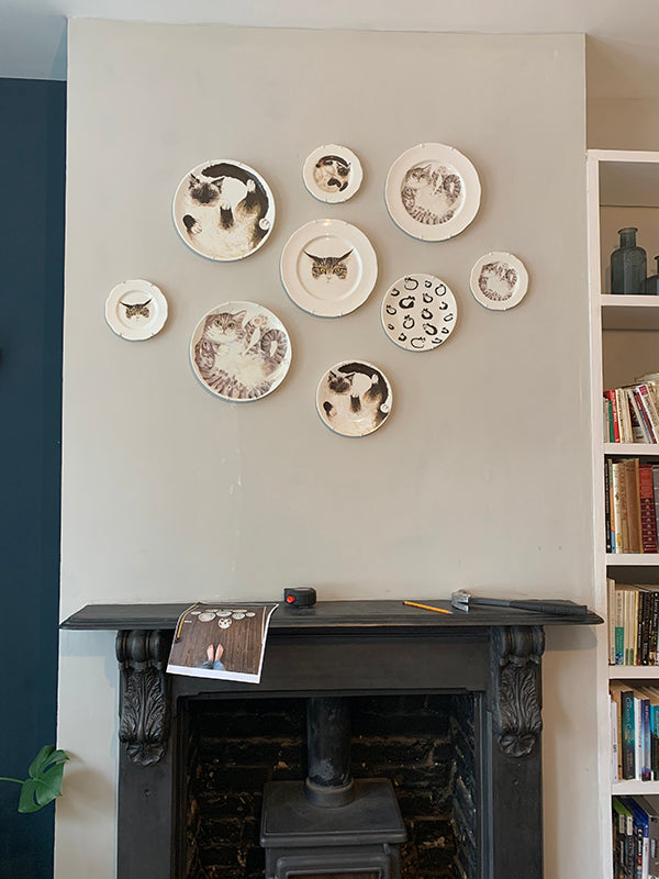 How to hang plates on a wall guide. Catnap Design London.