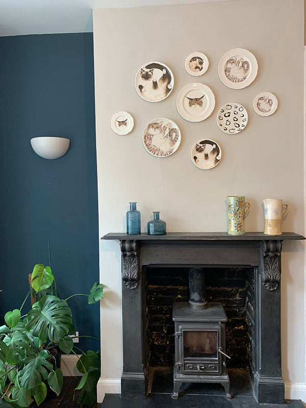 How to hang plates on a wall guide with pictures. Catnap Design London.