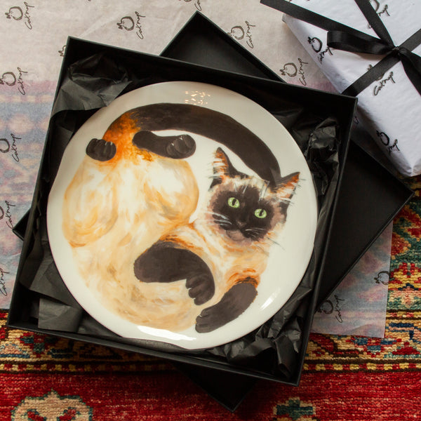 Finley Siamese Cat Plate