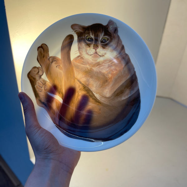 Fred Cat Plate Set of 4 Plates