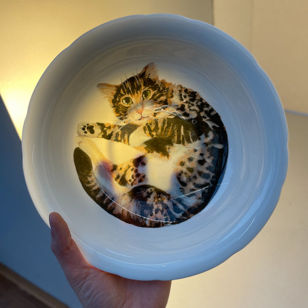 Theo Cat Serving Bowl (deep)