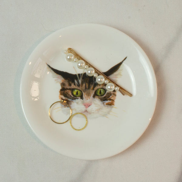 Cat face trinket dish. Catnap Design London.