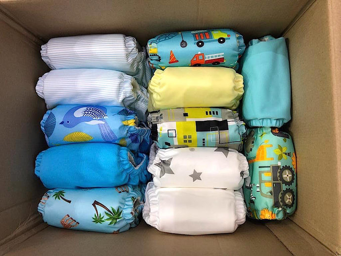 Storing cloth diapers long-term for future use