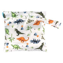Load image into Gallery viewer, Charlie Banana Reusable Waterproof Tote Bag Dinosaur print The Cloth Nappy Company Malta
