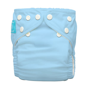 Charlie Banana One Size Hybrid Pocket Nappy Baby Blue The Cloth Nappy Company Malta