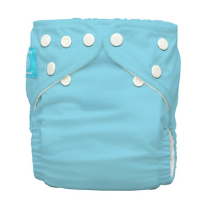 Charlie Banana One Size Hybrid Pocket Nappy CB Blue The Cloth Nappy Company Malta