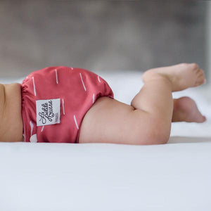 The Cloth Nappy Company La Petite Ourse All in One Nappy Stability baby pose