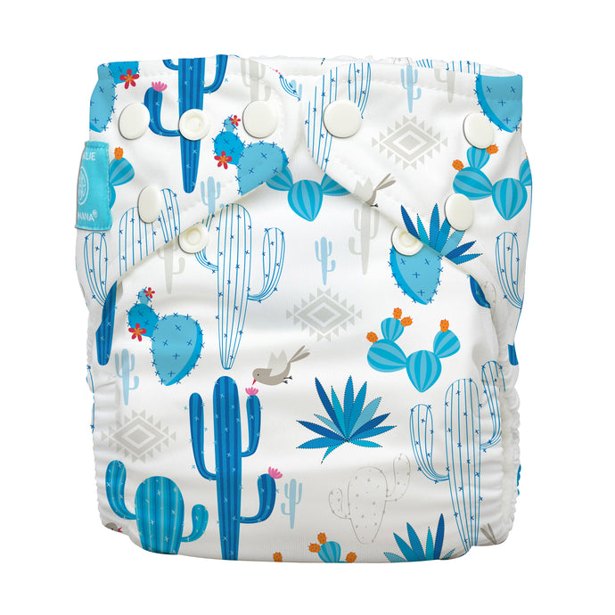 Charlie Banana One Size Hybrid Pocket Nappy cactus azul The Cloth Nappy Company Malta