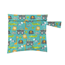 Load image into Gallery viewer, Charlie Banana Reusable Waterproof Tote Bag Gone Safari print The Cloth Nappy Company Malta