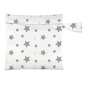 Charlie Banana Reusable Waterproof Tote Bag Twinkle Little Star White print The Cloth Nappy Company Malta