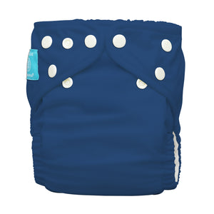 Charlie Banana One Size Hybrid Pocket Nappy Dark Blue The Cloth Nappy Company Malta