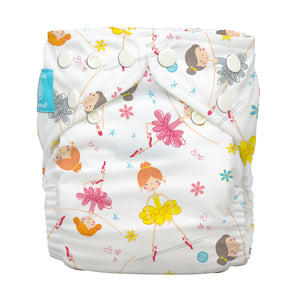 Charlie Banana One Size Hybrid Pocket Nappy Diva Ballerina The Cloth Nappy Company Malta