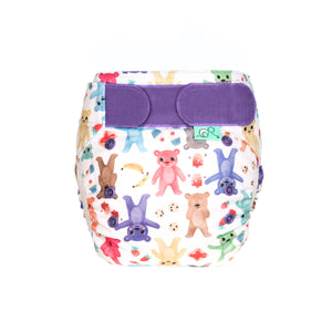 Tots Bots EasyFit - All in One Bearbum print The Cloth Nappy Company