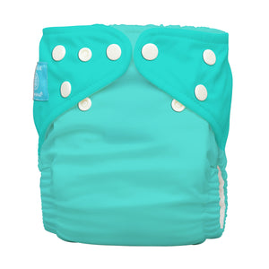 Charlie Banana One Size Hybrid Pocket Nappy Fluorescent Turquoise The Cloth Nappy Company Malta