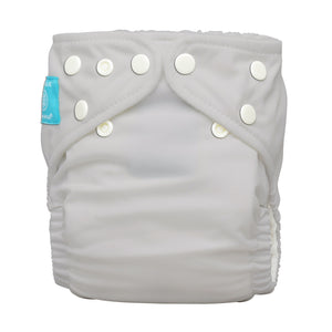 Charlie Banana One Size Hybrid Pocket Nappy light grey The Cloth Nappy Company Malta