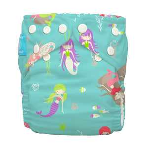 Charlie Banana One Size Hybrid Pocket Nappy mermaid jade The Cloth Nappy Company Malta