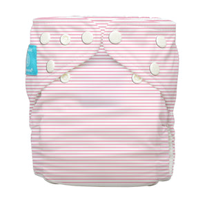 Charlie Banana One Size Hybrid Pocket Nappy Pencil Stripes Pink The Cloth Nappy Company Malta