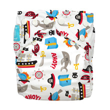 Load image into Gallery viewer, Charlie Banana One Size Hybrid Pocket Nappy Pirates The Cloth Nappy Company Malta