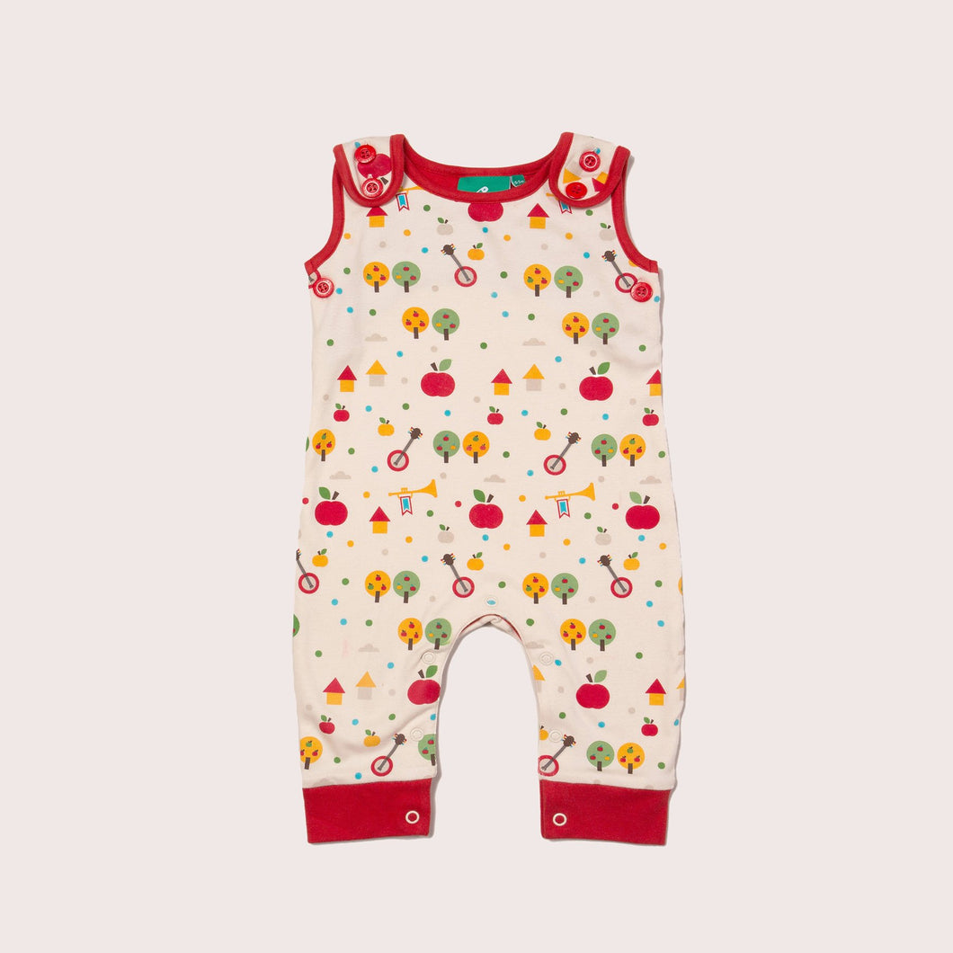 The Cloth Nappy Company Malta Little Green Radicals Apple Everyday Dungarees