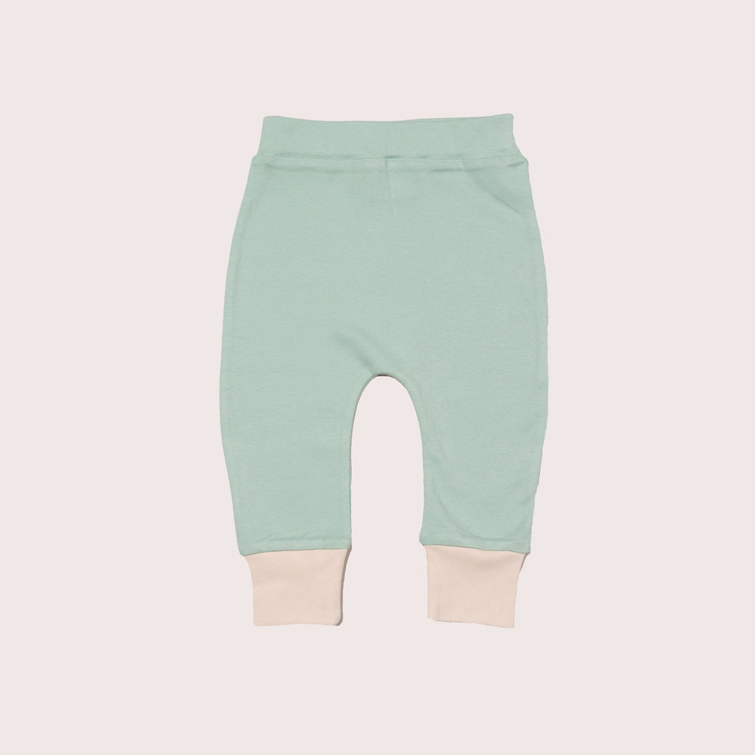 The Cloth Nappy Company Malta Little Green Radicals Trousers Joggers Bottoms Powder
