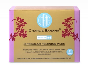 The Cloth Nappy Company Charlie Banana Feminine Care Reusable Regular Pads box