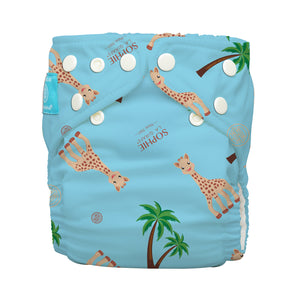 Charlie Banana One Size Hybrid Pocket Nappy Sophie Coco Blue The Cloth Nappy Company Malta