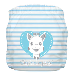 Charlie Banana One Size Hybrid Pocket Nappy Sophie Pencil Blue Heart The Cloth Nappy Company Malta
