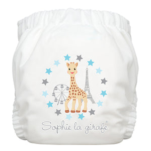 Charlie Banana One Size Hybrid Pocket Nappy Sophie at the Fair White The Cloth Nappy Company Malta