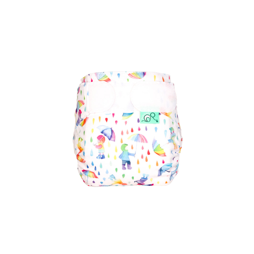 Tots Bots TeenyFit - All in One Dilly Dally print The Cloth Nappy Company