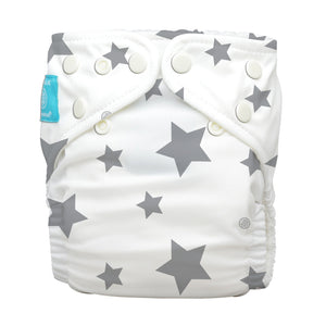 Charlie Banana One Size Hybrid Pocket Nappy Twinkle Little Start Grey The Cloth Nappy Company Malta
