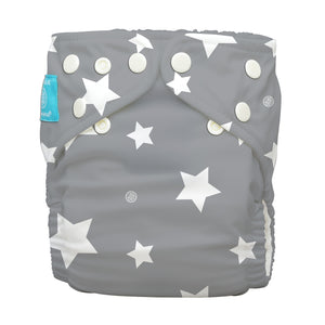 Charlie Banana One Size Hybrid Pocket Nappy Twinkle Little Star White The Cloth Nappy Company Malta