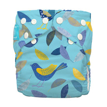 Load image into Gallery viewer, Charlie Banana One Size Hybrid Pocket Nappy Twitter Birds The Cloth Nappy Company Malta