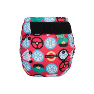 Tots Bots EasyFit - All in One Wheels on the Bus print The Cloth Nappy Company