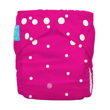 Load image into Gallery viewer, Charlie Banana One Size Hybrid Pocket Nappy White polka dots on hot pink The Cloth Nappy Company Malta