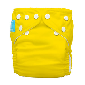 Charlie Banana One Size Hybrid Pocket Nappy Yellow The Cloth Nappy Company Malta