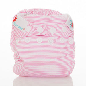 The Cloth Nappy Company Malta Bambooty newborn nappy baby pink sripes