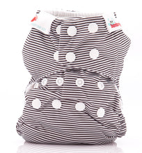 Load image into Gallery viewer, Bambooty One Size All in Two Black Stripes print The Cloth Nappy Company Malta