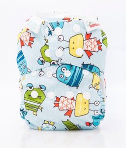 Bambooty One Size All in Two Boo print The Cloth Nappy Company Malta